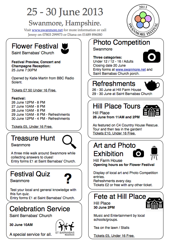 Swanmore Festival Programme 030613